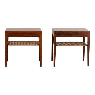 Mid-Century Modern Rosewood Tables by Severin Hansen - a Pair For Sale