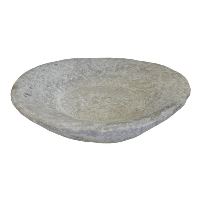 Hand-Carved Stone Bowl For Sale
