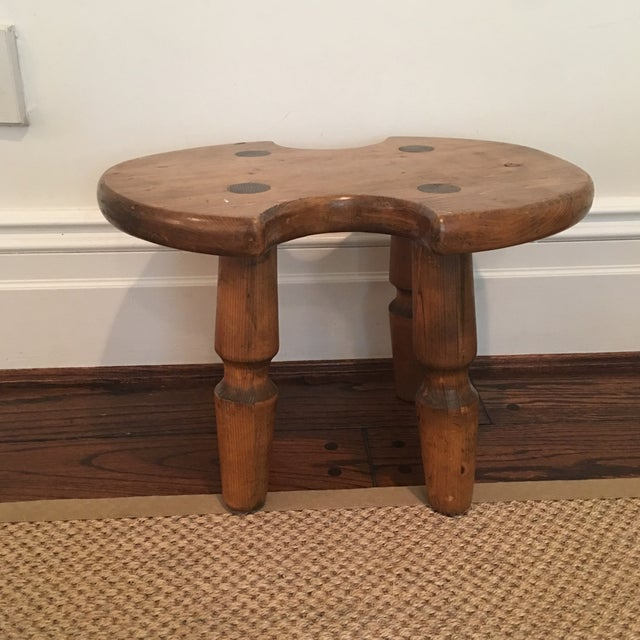 Rustic Americana Wooden Stool For Sale - Image 11 of 11
