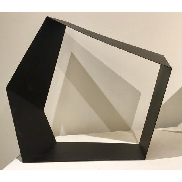 Contemporary Baker Modern Black Metal Geometric Sculpture For Sale - Image 3 of 7