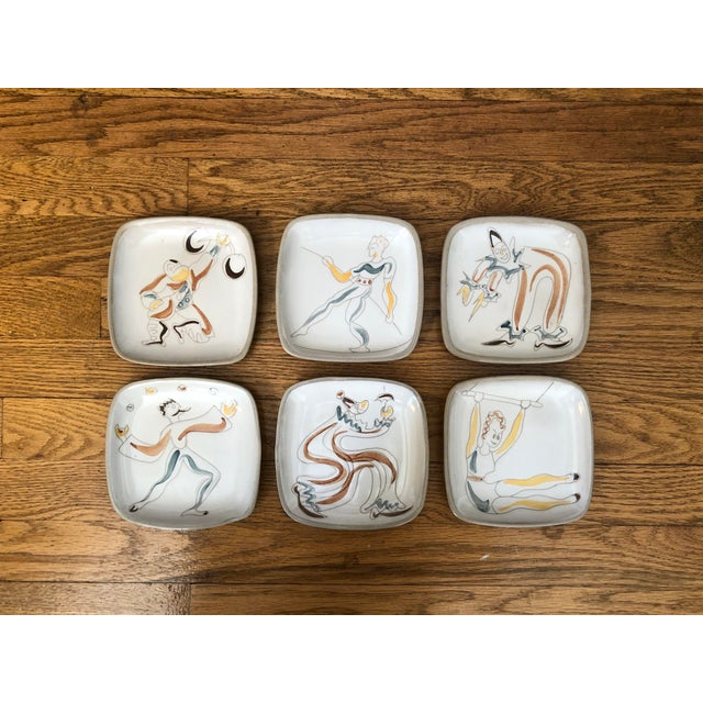 Mid Century Glidden Pottery Circus Plates - Set of 6 For Sale - Image 9 of 9