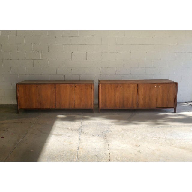 Mid-Century Modern Solid Wood Credenzas - A Pair For Sale - Image 13 of 13