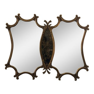 Hollywood Regency Double Mirror For Sale