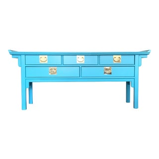 Lacquered Century Pagoda Sideboard Console For Sale