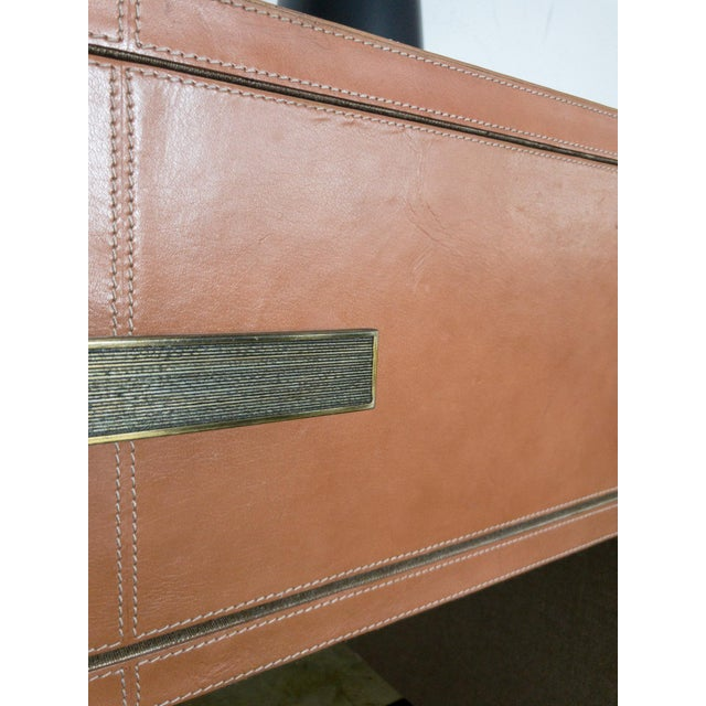 Made Goods Dante Double Nightstand in Aged Camel Leather For Sale - Image 12 of 13