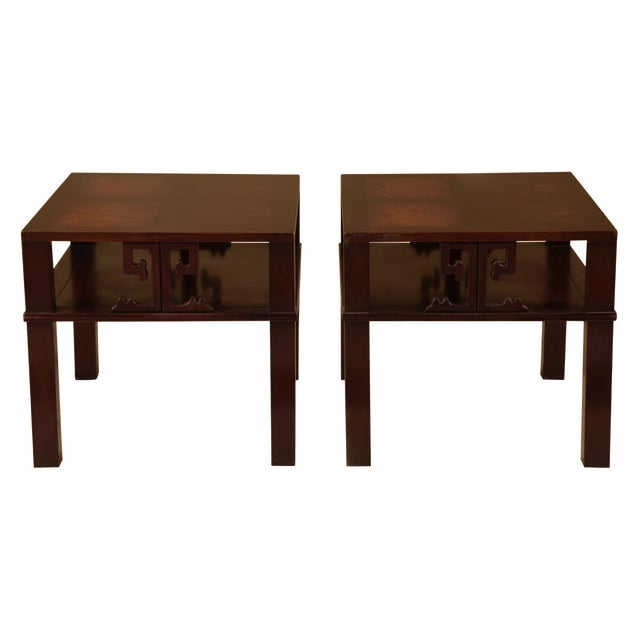 Mid-Century James Mont Style End Tables - A Pair For Sale