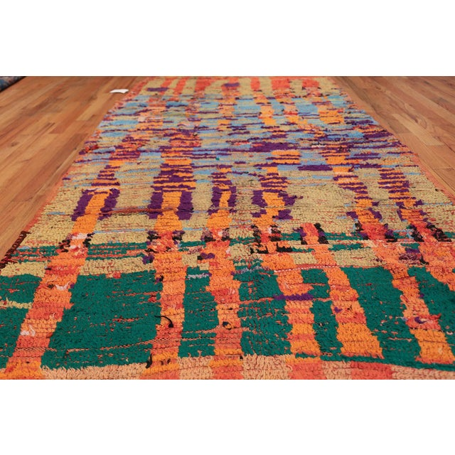 Vintage Moroccan Colorful Rug - 5′2″ × 10′ For Sale - Image 4 of 12