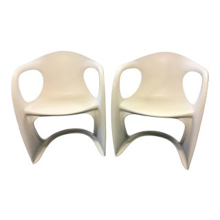 Vintage Mid-Century Plastic Chairs- A Pair For Sale