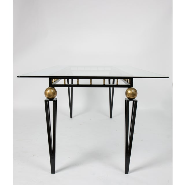 French Art Deco Forged Iron Dining Table - Image 5 of 10