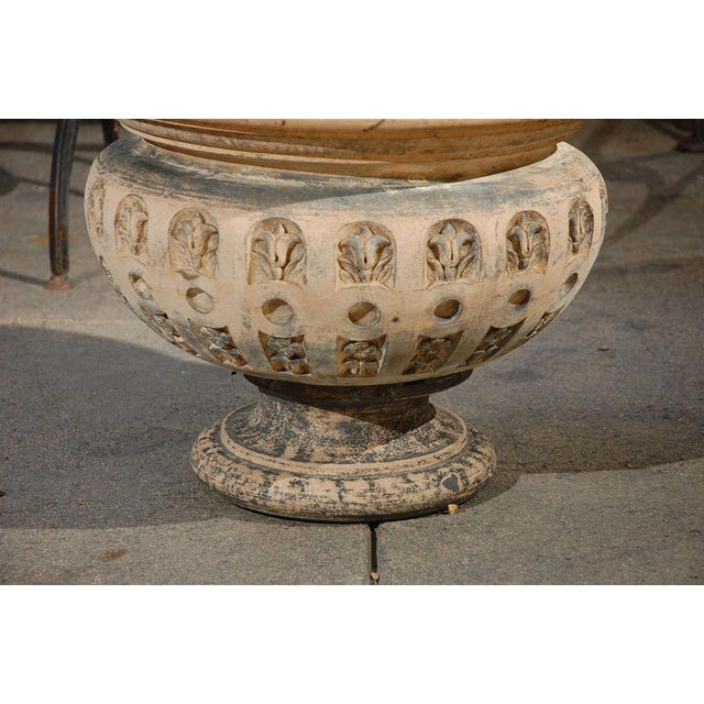 Mid 19th Century Terra Cotta Planter With Flared Rim From 19th Century England For Sale - Image 5 of 11