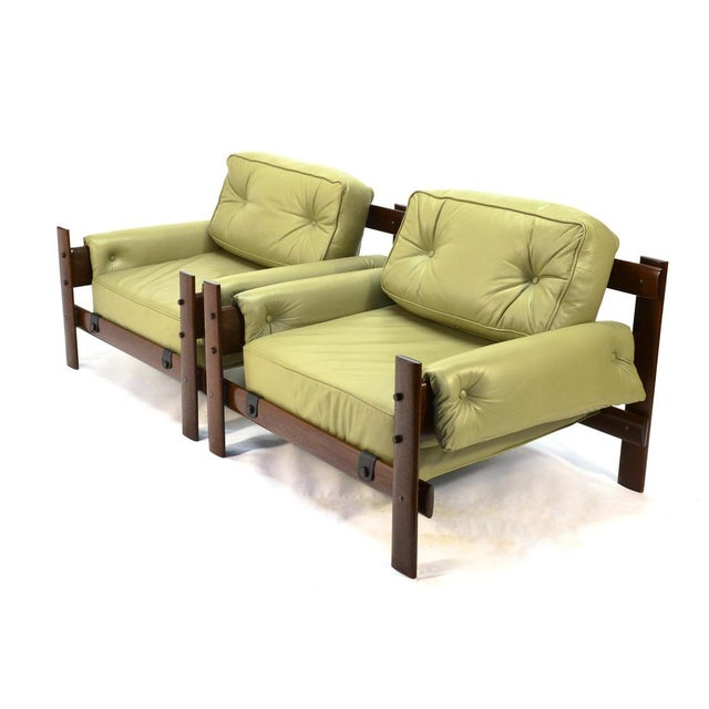 Percival Lafer Brazilian Leather Loungers - A Pair - Image 3 of 5