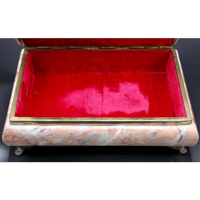 Mid-20th Century Monumental Footed Marble Box For Sale - Image 6 of 12