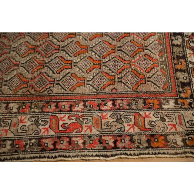 "Antique Hamadan Square Rug - 4'1"" x 4'9"" For Sale In New York - Image 6 of 12"