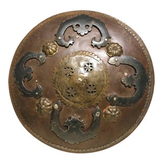Ottoman Iron ad Brass Miniature Battle Shield For Sale