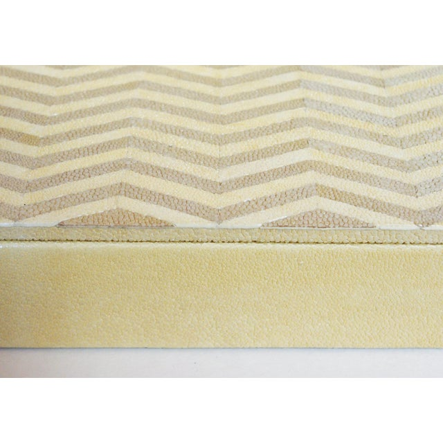 Modern Ivory and Brown Shagreen Box by Fabio Ltd For Sale - Image 3 of 7