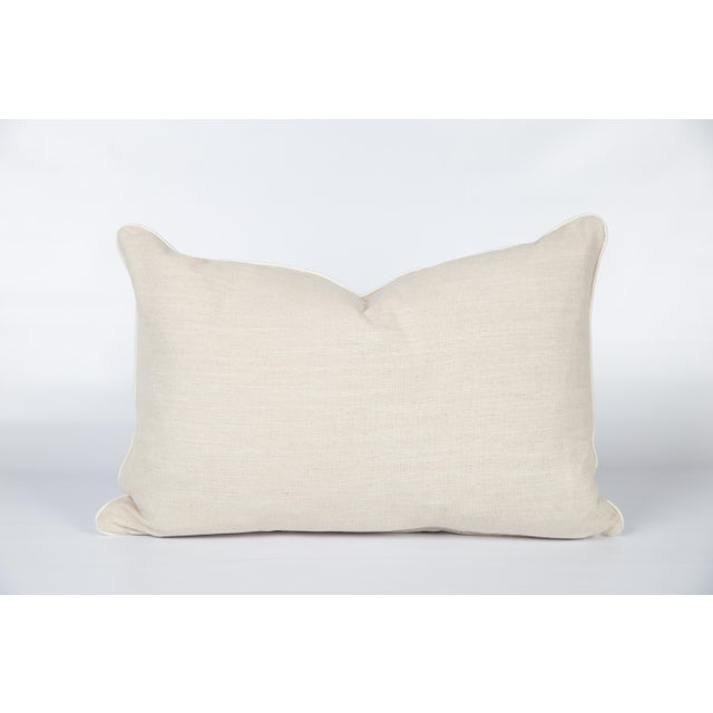 Black and Ivory Brunschwig & Fils Les Touches Lumbar Pillow For Sale - Image 4 of 6