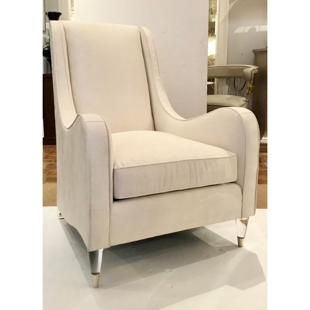 Metal Caracole Modern White Just Wing It Club Chair Prototype For Sale - Image 7 of 7