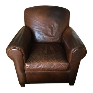 Crate & Barrel Leather Armchair