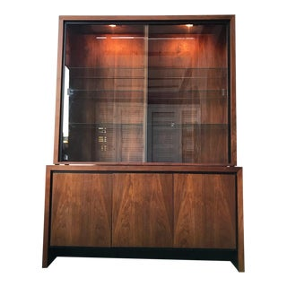 1960s Danish Modern Milo Baughman Dillingham Credenza and Hutch For Sale