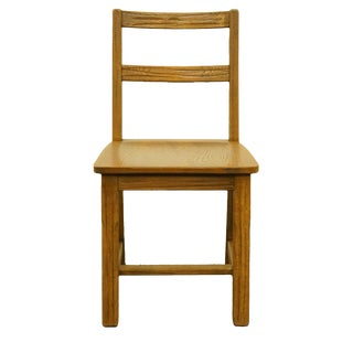 Late 20th Century Vintage Brandt Furniture Ranch Oak Rustic Country Style Chair For Sale