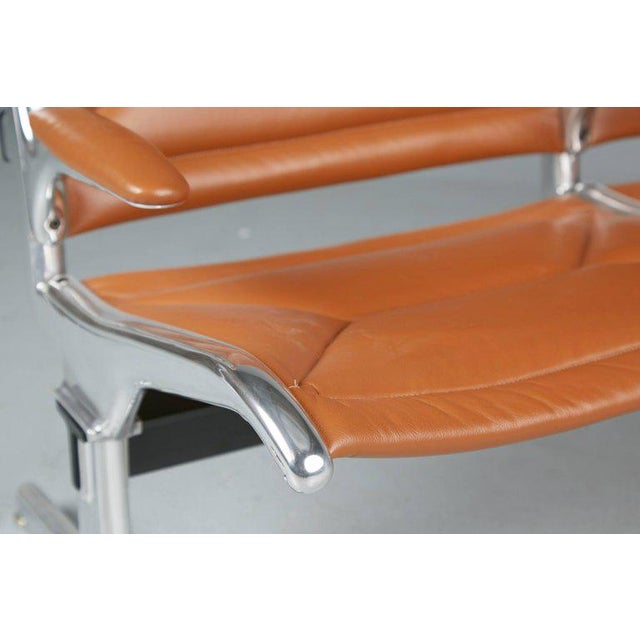 Edelman Leather Two-Seat Tandem Sling by Charles Eames for Herman Miller For Sale - Image 10 of 11