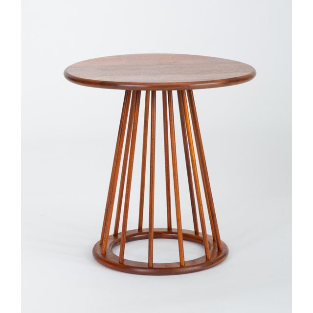 Arthur Umanoff 1950s Walnut Round Side Table by Arthur Umanoff for Washington Woodcraft For Sale - Image 4 of 10