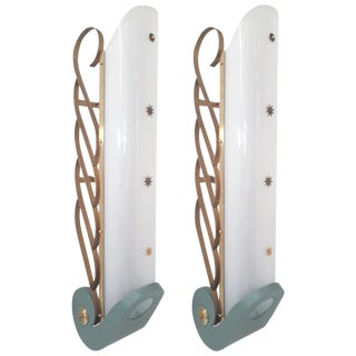 Pair of Cinema Sconces (2 Pairs Available) For Sale