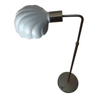 1960s Glass Shell Adjustable Floor Lamp For Sale