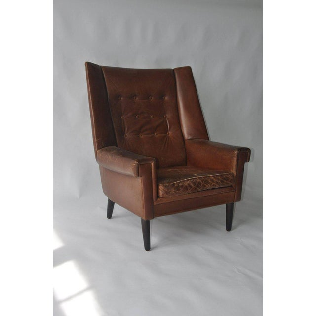 High Back Danish Lounge Chair - Image 3 of 7