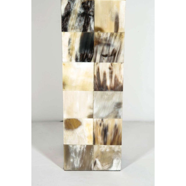 Mosaic Genuine Horn Table Lamp For Sale In New York - Image 6 of 8