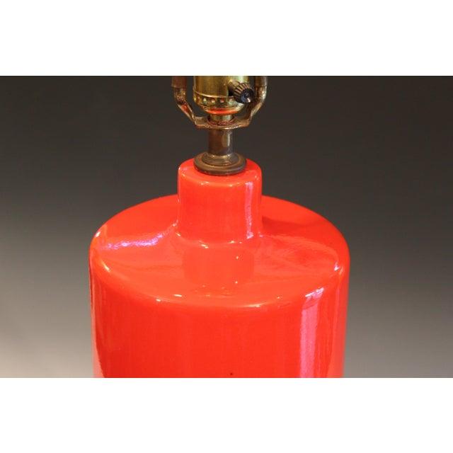 1960s Vintage 1960s Atomic Orange Lamp Mad Men For Sale - Image 5 of 8