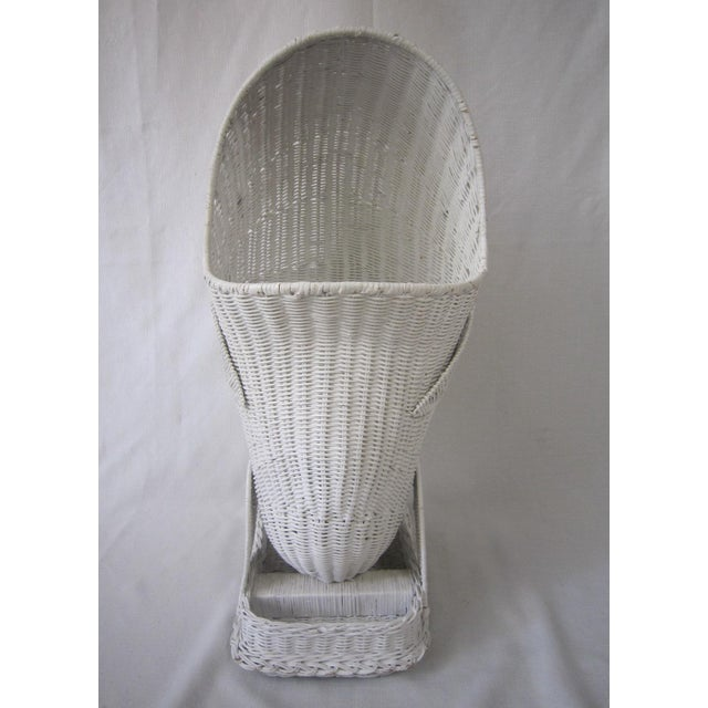1970s Vintage Wicker Whale Basket For Sale - Image 5 of 7