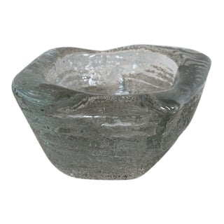 Thick Glass Catchall Dish For Sale
