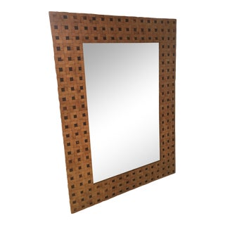 Antique Coconut Wood Mirror