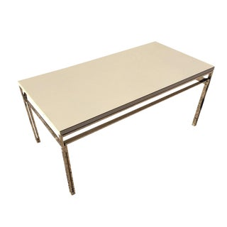 1960s Mid Century Steel White Modern Coffee Table For Sale