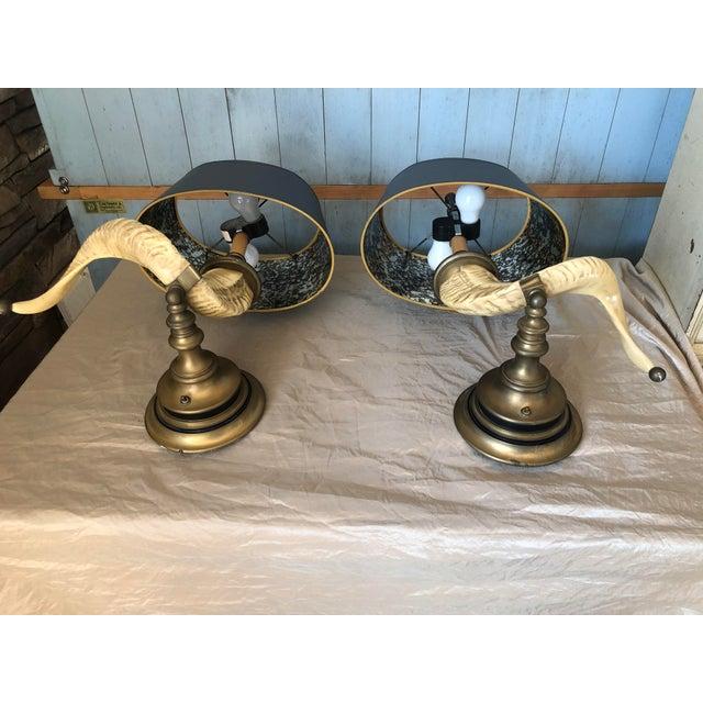 Art Deco Vintage Chapman Horn Sconces - a Pair For Sale - Image 3 of 6