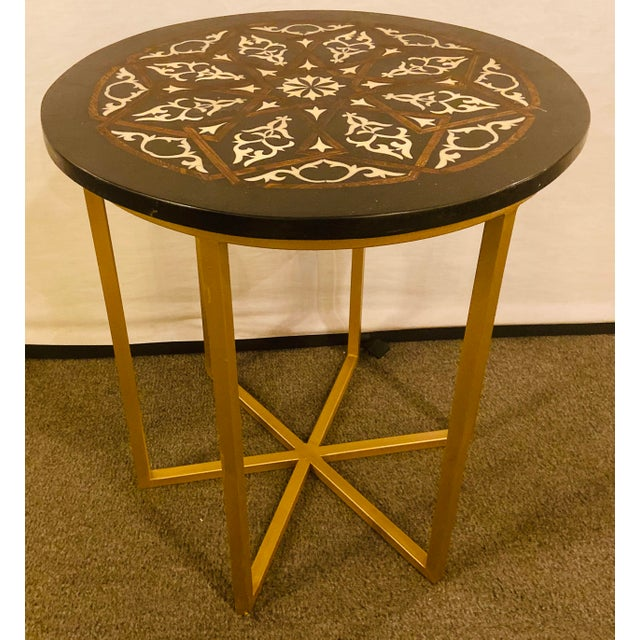 Moroccan Brass Side Table For Sale - Image 13 of 13