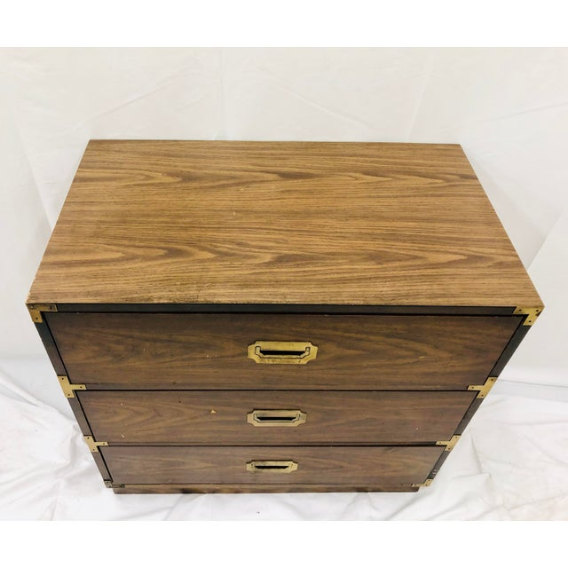 Mid 20th Century Vintage Campaign Style Bachelors Chest For Sale - Image 5 of 6