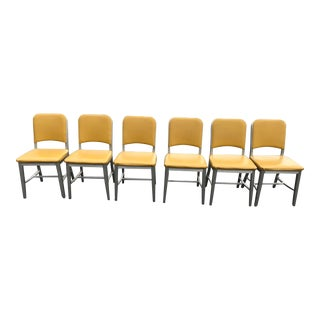 1940s Emeco Butter Yellow Chairs - Set of 6 For Sale