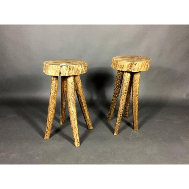 """Amazing artist, Daniel Oates, hand-carved and polished these 24"""" height stool in his Sharon CT studio using box elder,..."""