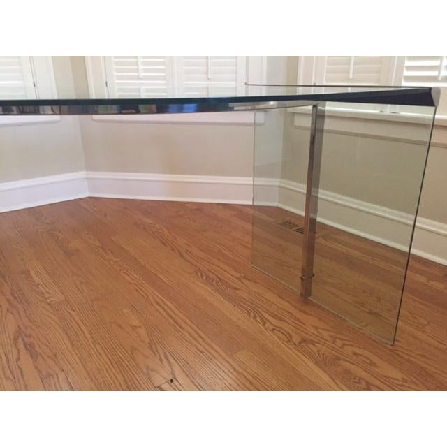 DIA Curved Glass & Chromed Steel Writing Desk - Image 6 of 10