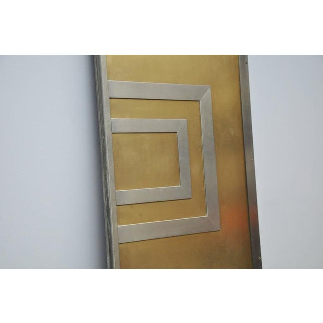 Hollywood Regency Glamorous Bronze and Stainless Entry Doors For Sale - Image 3 of 7
