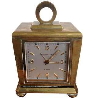 Vintage Shreve Crump and Low Retailed Weather Station Clock For Sale