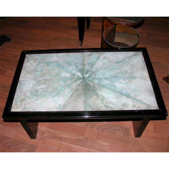 Art Deco French Art Deco Shagreen Occasional Table For Sale - Image 3 of 6