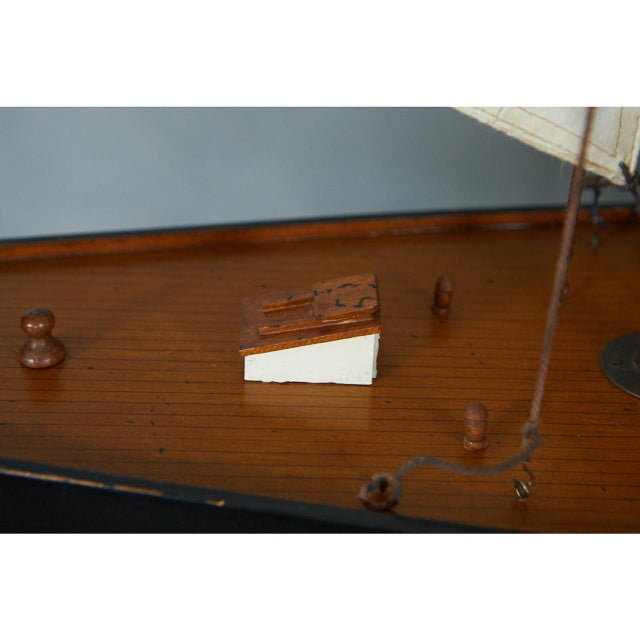 Brass Large Model Sailing Boat For Sale - Image 7 of 10