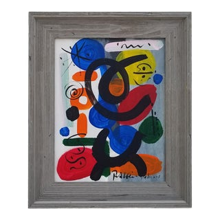 1970s Vintage Peter Keil Abstract Painting For Sale