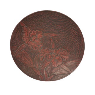 Lacquer Asian Motif Trays - A Pair For Sale