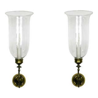 19th Century Hurricane Sconces (pair) For Sale