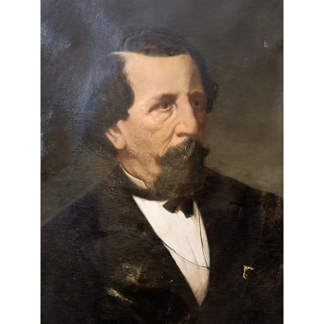 19th-Century Oil on Oval Canvas Portrait Painting For Sale - Image 12 of 13