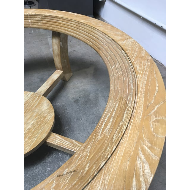 Wood 1940s Mid-Century Modern Paul Frankl for Brown Saltman Round Cerused Oak Coffee Table For Sale - Image 7 of 12